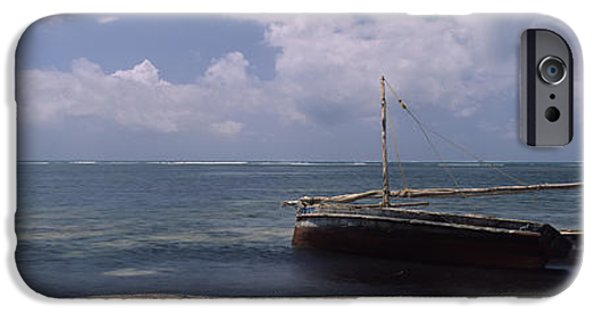 Sailboat Ocean iPhone Cases - Dhows In The Ocean, Malindi, Coast iPhone Case by Panoramic Images