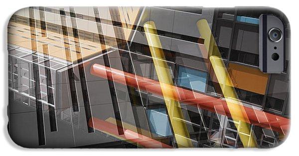 Building iPhone Cases - Diagonal Mondrian iPhone Case by Wayne Sherriff
