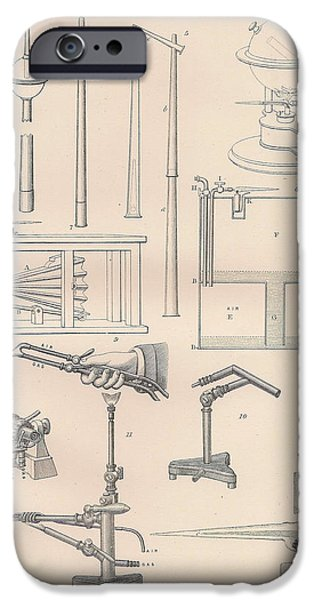 Mechanism Drawings iPhone Cases - Diagrams and parts of a Blow Pipe iPhone Case by Anon