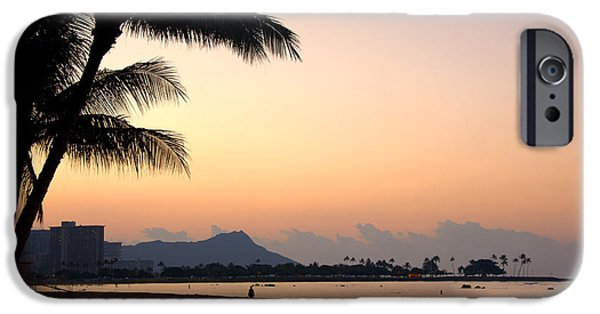 States iPhone Cases - Diamond Head Sunrise - Honolulu Hawaii iPhone Case by Brian Harig