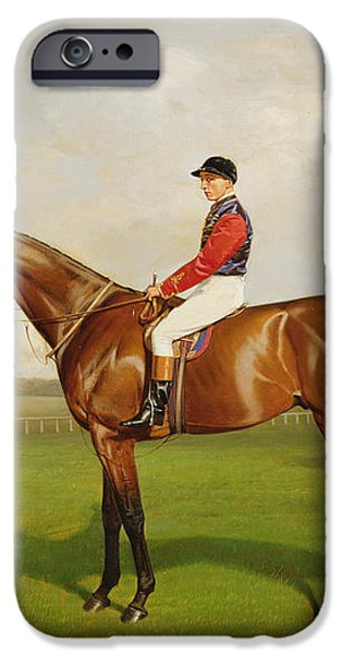 Diamond Jubilee Winner of the 1900 Derby iPhone Case by Emil Adam