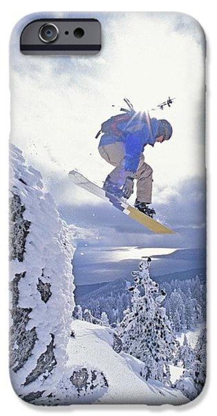 25-29 Years iPhone Cases - Diamond Peak, Lake Tahoe, Nevada, Usa iPhone Case by Dan Sherwood
