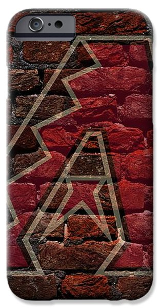 Diamondbacks Baseball Graffiti on Brick  iPhone Case by Movie Poster Prints