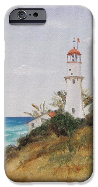 Lighthouse iPhone Cases - Diamondhead Lighthouse iPhone Case by Jimmie Bartlett