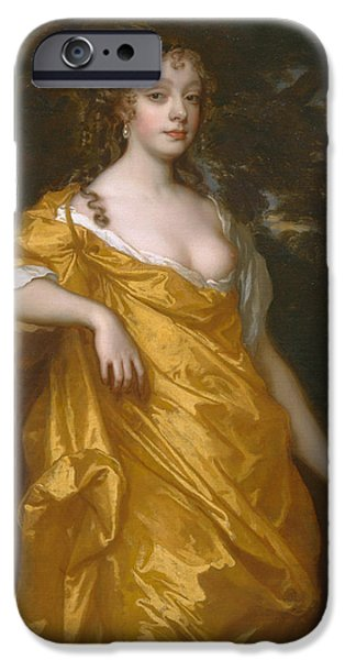 Countess iPhone Cases - Diana Kirke later Countess of Oxford iPhone Case by Peter Lely