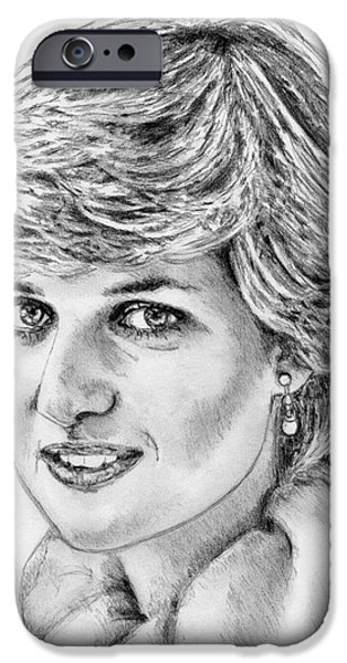 Duchess iPhone Cases - Diana - Princess of Wales in 1981 iPhone Case by J McCombie