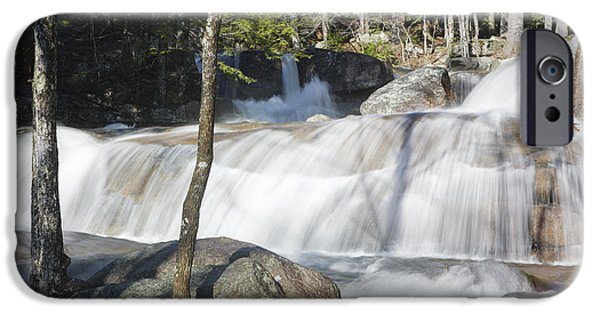 White River Scene Photographs iPhone Cases - Dianas Bath - North Conway New Hampshire USA iPhone Case by Erin Paul Donovan