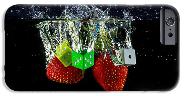 Dunk iPhone Cases - Dice Splash iPhone Case by Rene Triay Photography