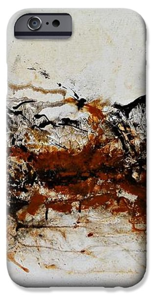 Die Trying1 - Abstract Art iPhone Case by Ismeta Gruenwald