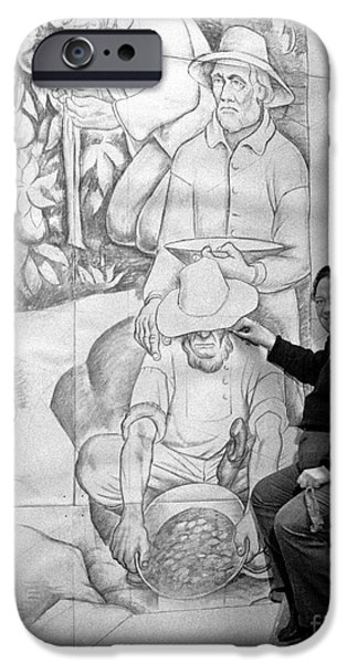 Diego Rivera iPhone Cases - Diego Rivera Muralist 1930 iPhone Case by Martin Konopacki
