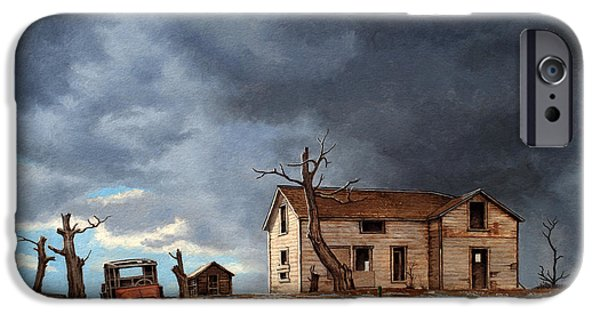 Rusty iPhone Cases - Different Day at the Homestead iPhone Case by Paul Krapf