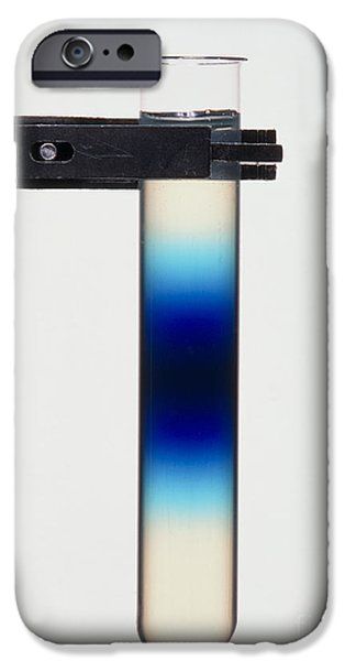 Diffusion iPhone Cases - Diffusion Of Blue Dye In An Agar Gel iPhone Case by Martyn F. Chillmaid