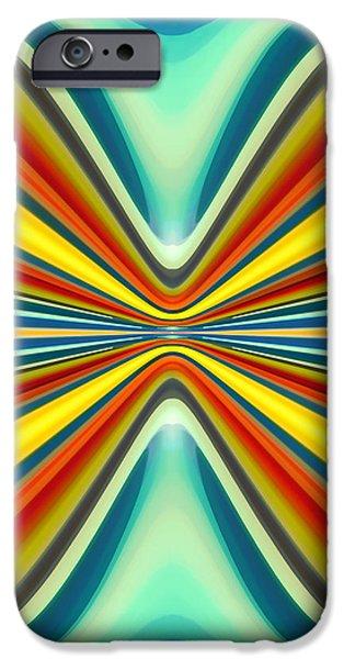 Digital Art Pattern 8 iPhone Case by Amy Vangsgard