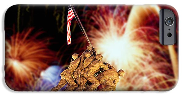 Fireworks iPhone Cases - Digital Composite, Fireworks Highlight iPhone Case by Panoramic Images
