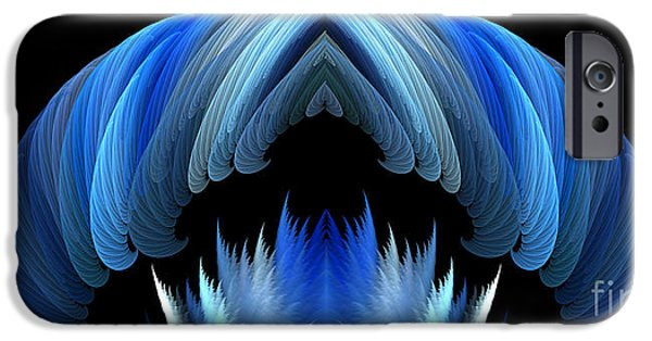 Abstract Digital iPhone Cases - Digital Dreamcatcher 5 iPhone Case by Mike Nellums
