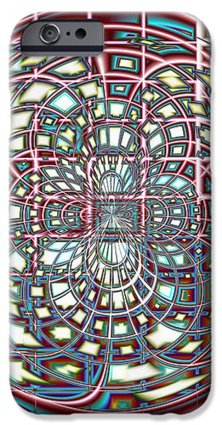 Asymmetrical iPhone Cases - Digital Interlace iPhone Case by Shawna  Rowe