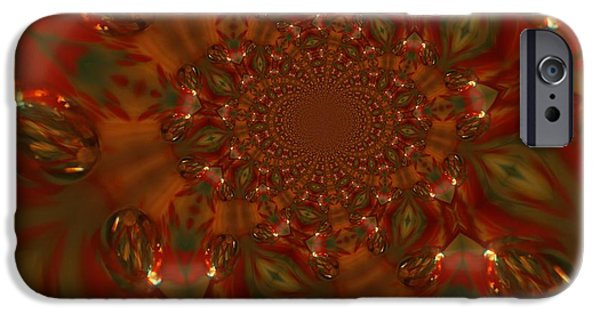 Abstract Digital iPhone Cases - Digital Kaleidoscope  iPhone Case by Jeff  Swan