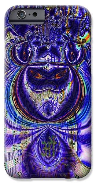 Digital Loop Entity iPhone Case by Jason Saunders