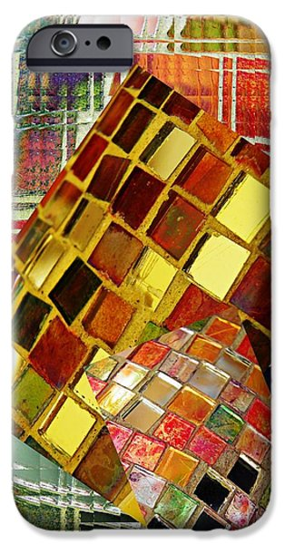 Abstract Digital Digital Art iPhone Cases - Digital Mosaic iPhone Case by Sarah Loft
