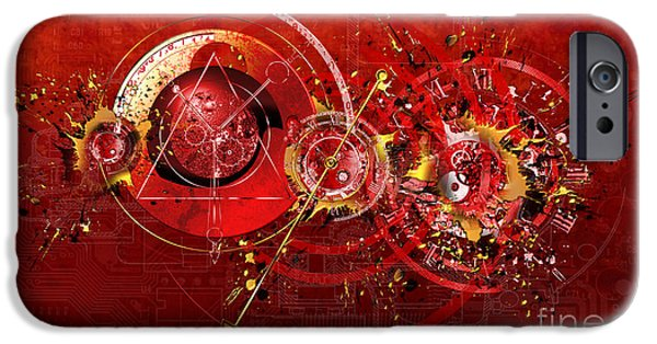 Abstract Digital Mixed Media iPhone Cases - Digital Time Shift iPhone Case by Franziskus Pfleghart