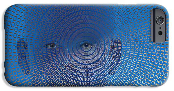 Cyberspace iPhone Cases - Digital Vision iPhone Case by Carol and Mike Werner