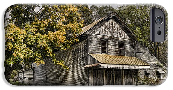 Haunted House iPhone Cases - Dilapidated iPhone Case by Heather Applegate