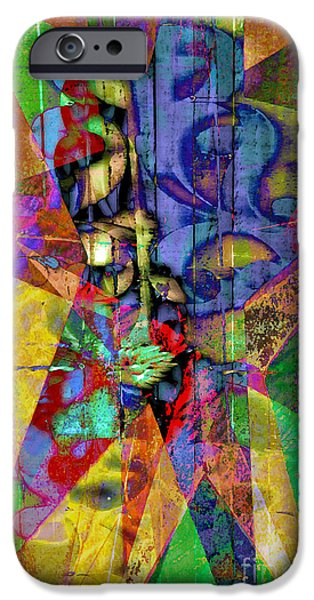 Modernart iPhone Cases - Dimensions iPhone Case by Molly McPherson