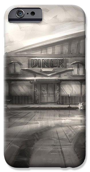 Diner iPhone Case by Alex Ruiz