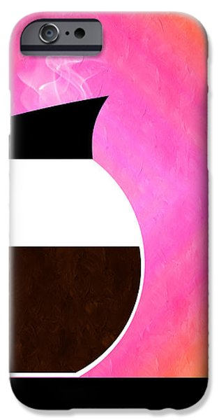 Diner Coffee Pot And Cup Sorbet iPhone Case by Andee Design