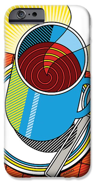 Diners iPhone Cases - Diner Coffee iPhone Case by Ron Magnes