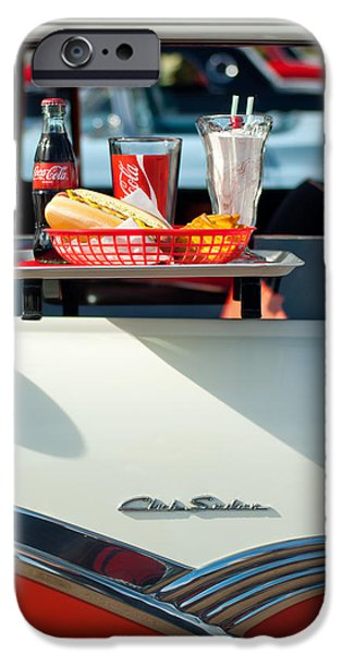 Diners iPhone Cases - Diner Food Tray Club Sedan iPhone Case by Jill Reger