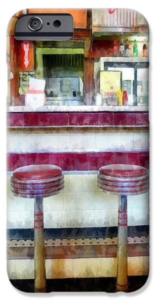 Diners iPhone Cases - Diner Phone Case iPhone Case by Edward Fielding