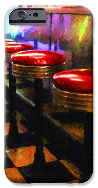 Diner - v2 iPhone Case by Wingsdomain Art and Photography