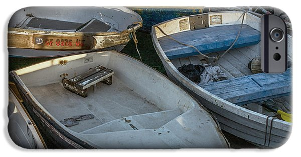 Bay Photographs iPhone Cases - Dinghies iPhone Case by Peter Tellone
