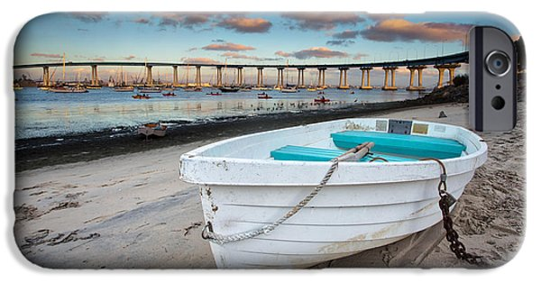 Bay Bridge iPhone Cases - Dinghy II iPhone Case by Peter Tellone