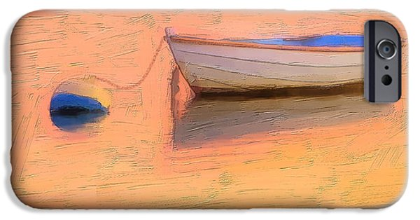 Cape Cod Mixed Media iPhone Cases - Dinghy iPhone Case by Michael Petrizzo