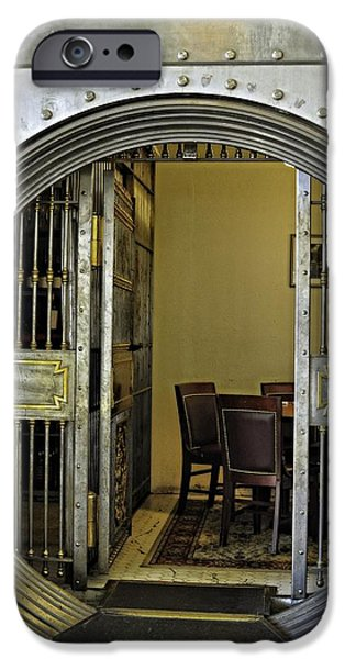 Wine Vault iPhone Cases - Dining In The Vault At Metals Bank iPhone Case by Image Takers Photography LLC - Laura Morgan