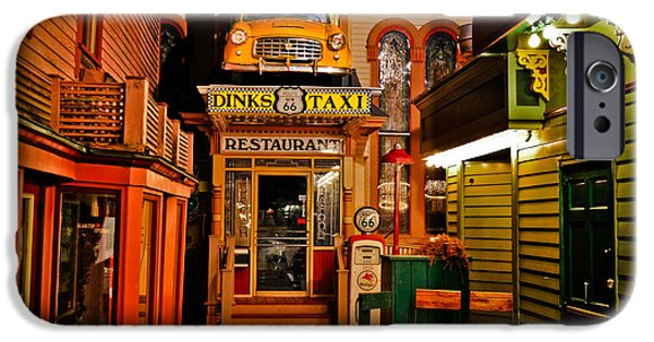 Newengland iPhone Cases - Dinks Route 66 Taxi Restaurant iPhone Case by Gary Keesler
