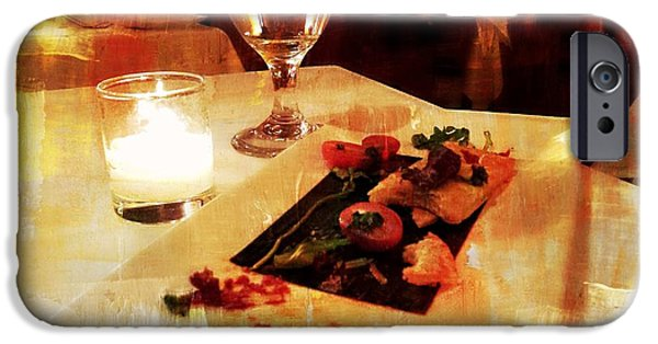Table Wine iPhone Cases - Dinner Plate iPhone Case by Diana Angstadt