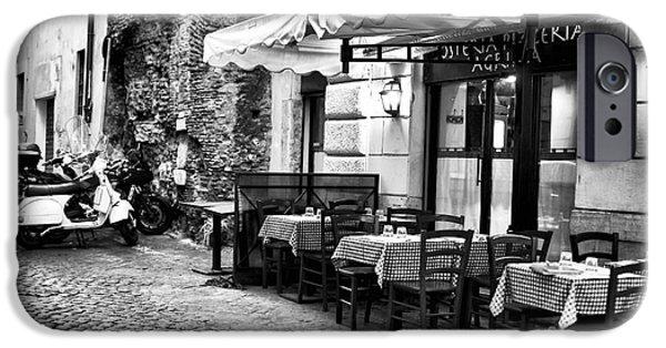 Interior Scene iPhone Cases - Dinner Scene in Rome iPhone Case by John Rizzuto