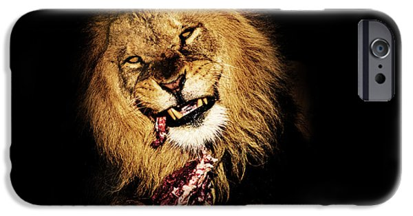 Power Animal iPhone Cases - Dinner Time iPhone Case by Martin Newman