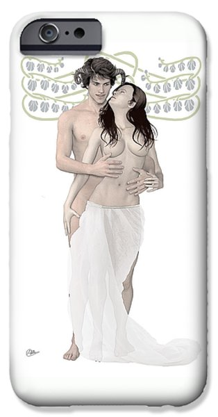 Zeus iPhone Cases - Dionysus and Ariadne n2 iPhone Case by Joaquin Abella