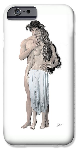 Zeus iPhone Cases - Dionysus and Ariadne n4 iPhone Case by Joaquin Abella