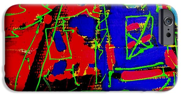 Fine Art Abstract iPhone Cases - Diptych   I iPhone Case by John  Nolan