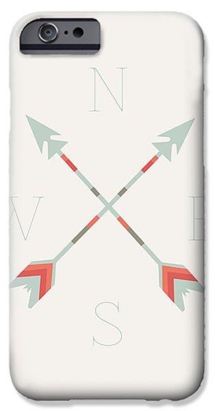 Arrow iPhone Cases - Directional Arrows iPhone Case by Sara Habecker
