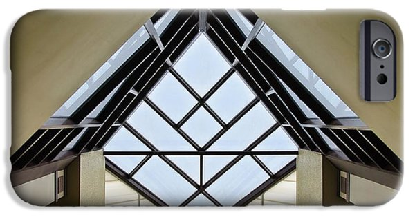 Glass Wall iPhone Cases - Directional Symmetry iPhone Case by Charles Dobbs