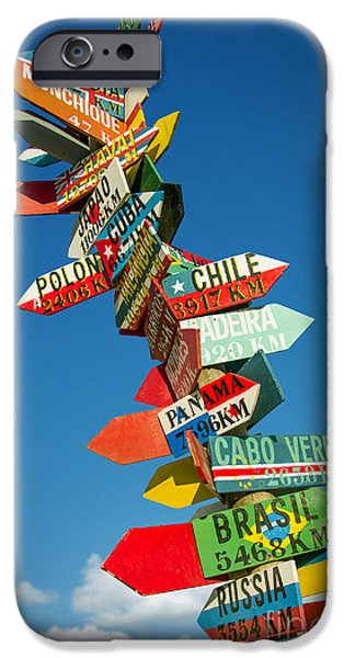 Politics iPhone Cases - Directions Signs iPhone Case by Carlos Caetano