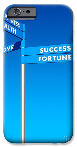 Fortune iPhone Cases - Directions to Goals iPhone Case by Carlos Caetano