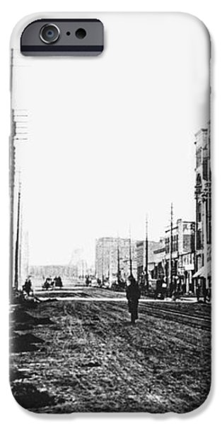DOWNTOWN DIRT SPOKANE c. 1895 iPhone Case by Daniel Hagerman