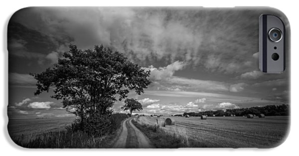 Crops iPhone Cases - Dirt path iPhone Case by Chris Fletcher